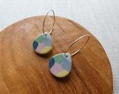 Multicolour Raindrop Hoop Earrings