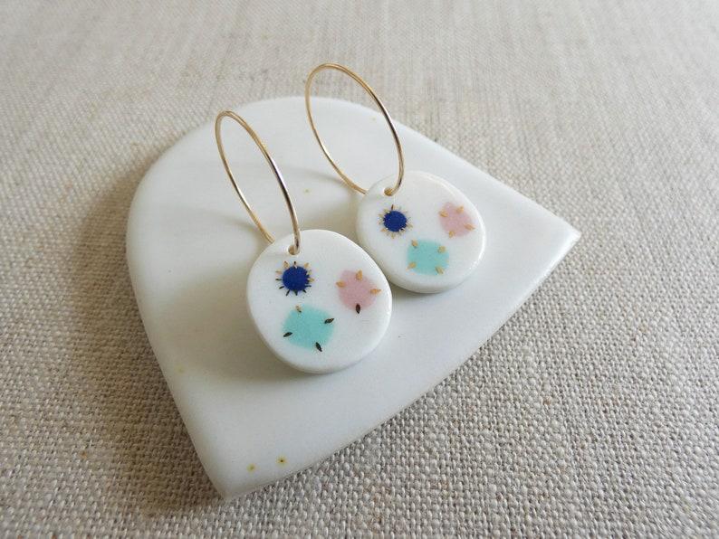 Inlay Gem Stone Earrings image 0