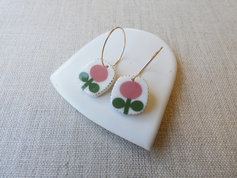 Flower Drop Earrings image 0