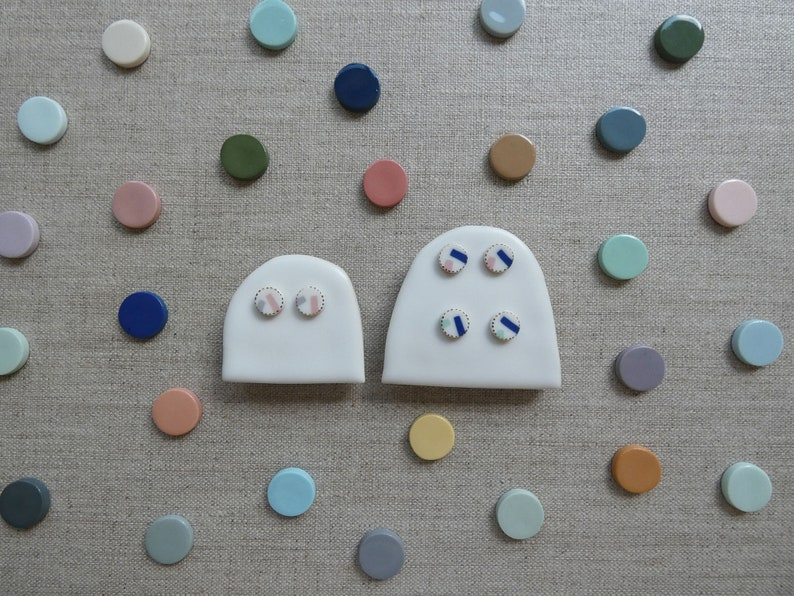 Shooting Star Inlay Stud Earrings in 3 Colours image 0