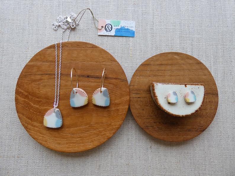 Morning Glory Hoop Earrings image 1