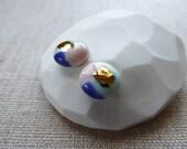 Watercolour Stud Earrings...