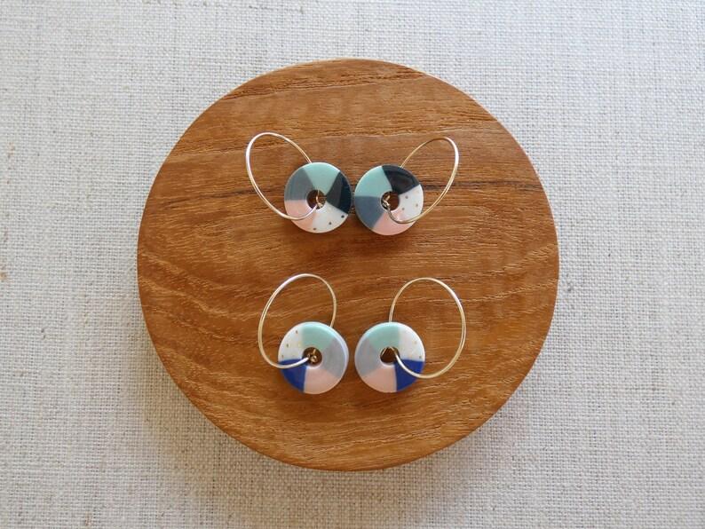 New Colour Wheel Hoop Earrings image 0