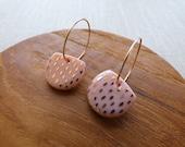 Gold Speckled Half Moon Hoop Earrings in Sorbet