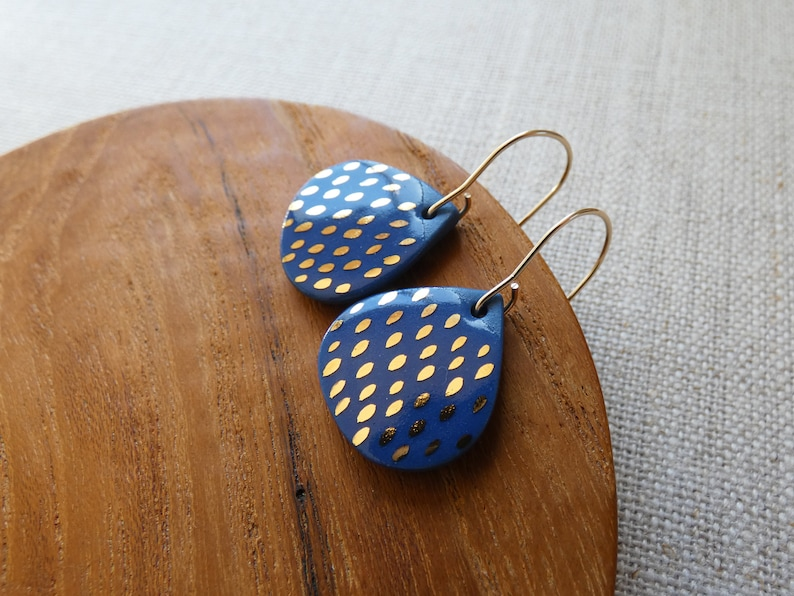 Speckled Raindrop Hook Earrings image 0