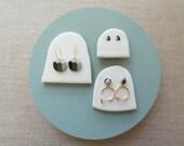 Matcha Colourwheel Ball Loop Stud Earrings