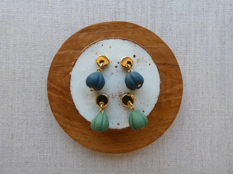 Moon and Shell Stud Earrings in 5 Colours image 0