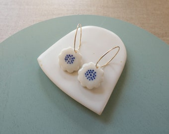 Blue Dot Kiku Earrings