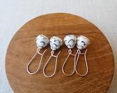 Lustre Pinecone Dangle Earrings