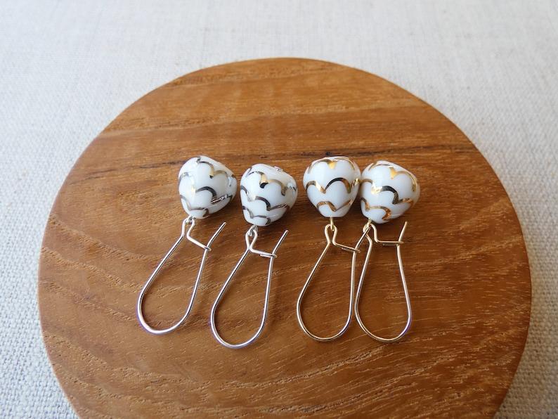 Lustre Pinecone Dangle Earrings image 0