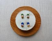 2 Dot Stud Earrings
