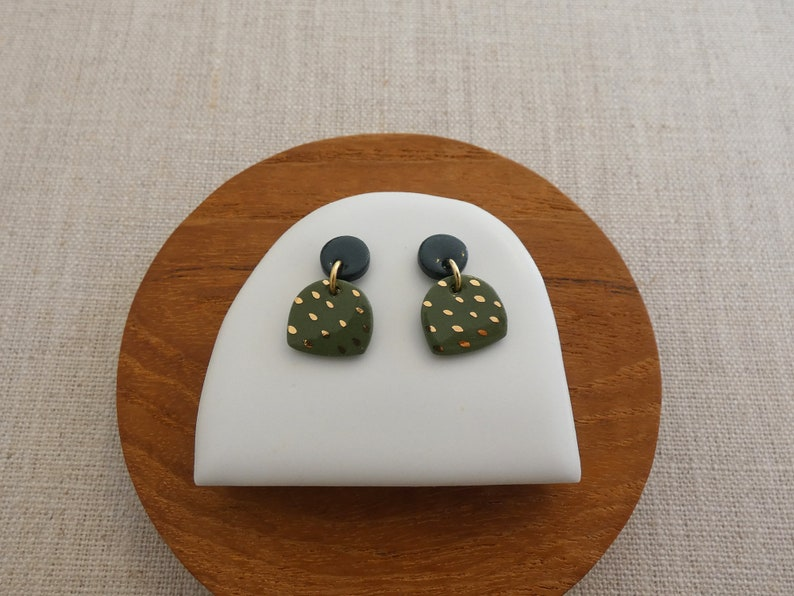 Moon & Mountain Stud Earrings in 5 colours PREORDER image 0