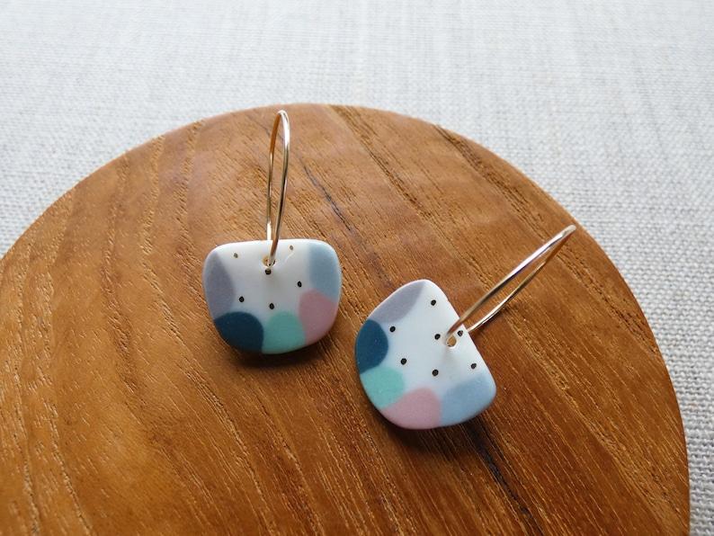 Gold Dot Watermelon Earrings image 0