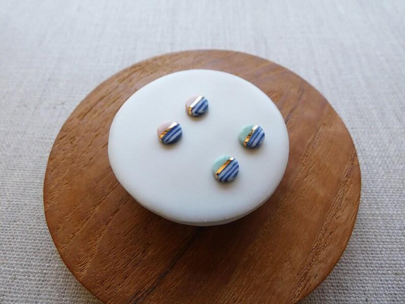 Mini Horizon Stud Earrings image 0