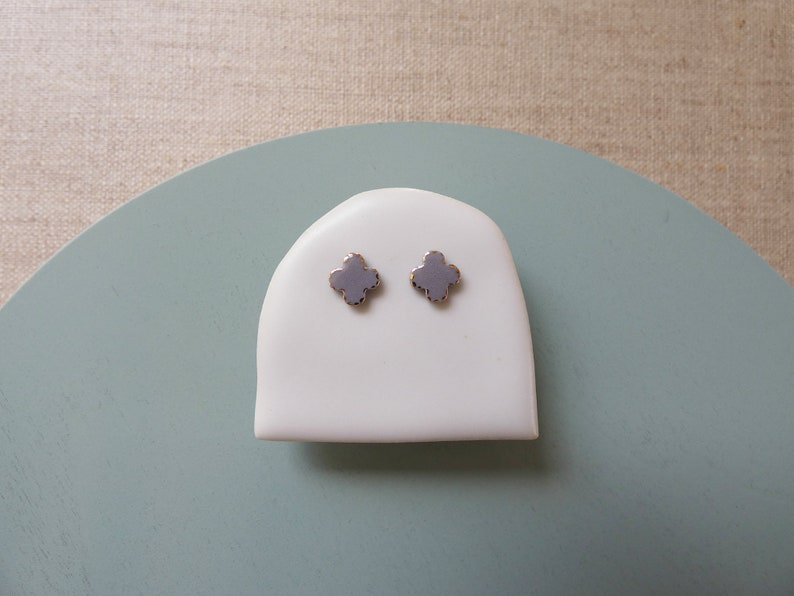 Ajisai Hydrangea Stud Earrings image 1