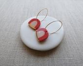 New Rainbow Earrings in Coral or Navy
