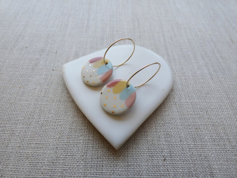 Day and Night Oval Earrings image 0