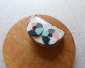 New Colour Wheel Stud Earrings