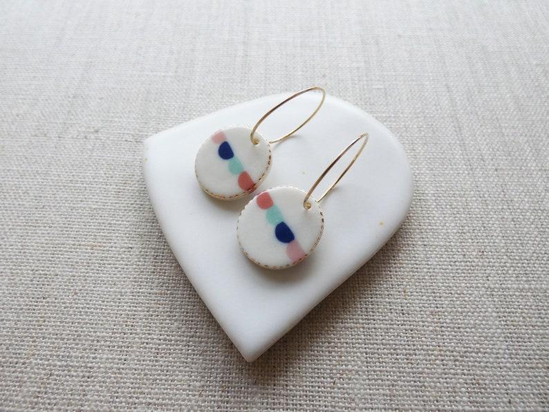 Bunting Inlay Earrings Sample SALE image 0