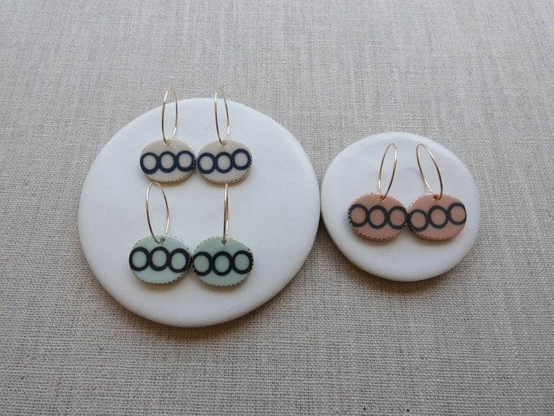 Echo Oval Drop Earrings image 0