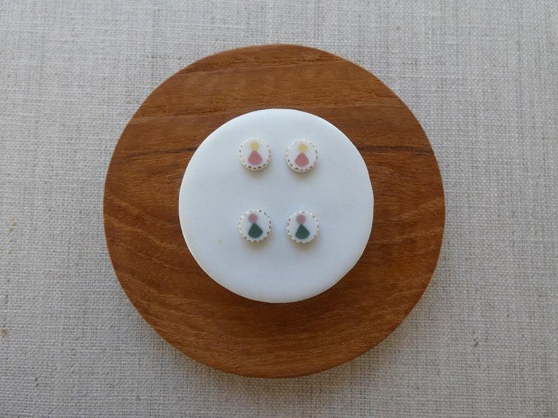 Echo Inlay Stud Earrings image 0
