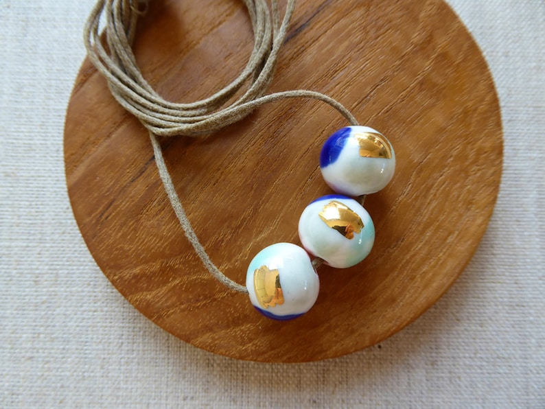 Watercolour Bead Necklace image 0