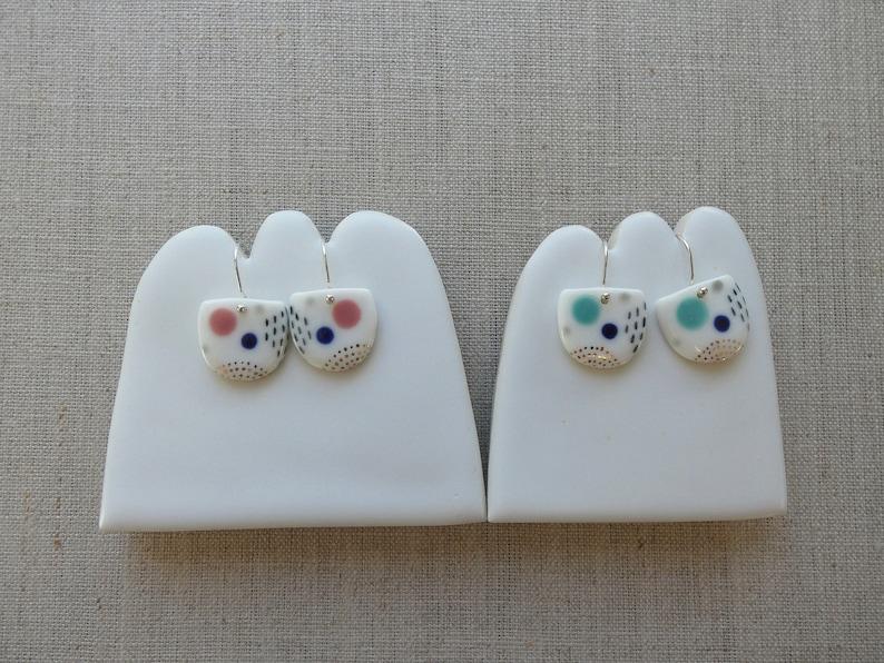 Landscape Earrings in Mint image 0
