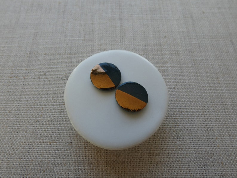 Copper Dip Round Stud Earrings since 2012 image 0