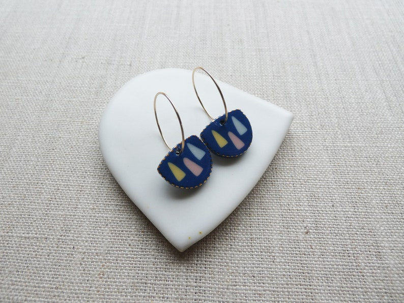 Forest Inlay Earrings Last image 0