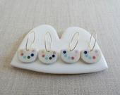 Pearl Necklaca Inlay Drop Earrings