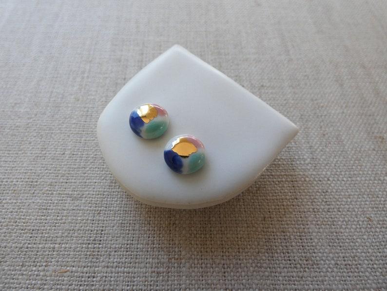 Watercolour Stud Earrings image 0