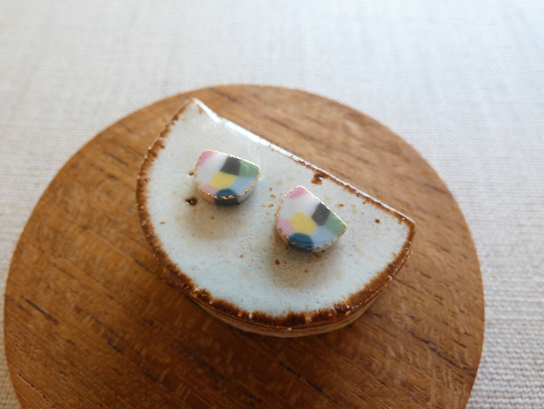 Starburst Rice Paddy Stud Earrings image 0