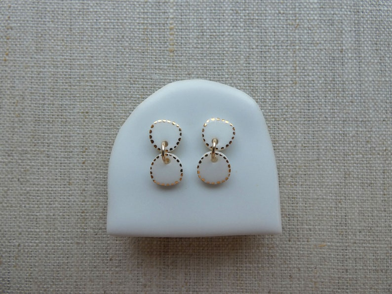 2 Pebble Starburst Stud Earrings 6 colours image 0