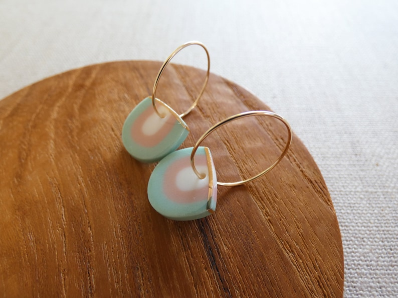Rainbow Hoop Earrings image 0