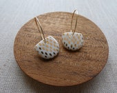 Dash Half Moon Hoop Earrings in Gold or Platinum PREORDER