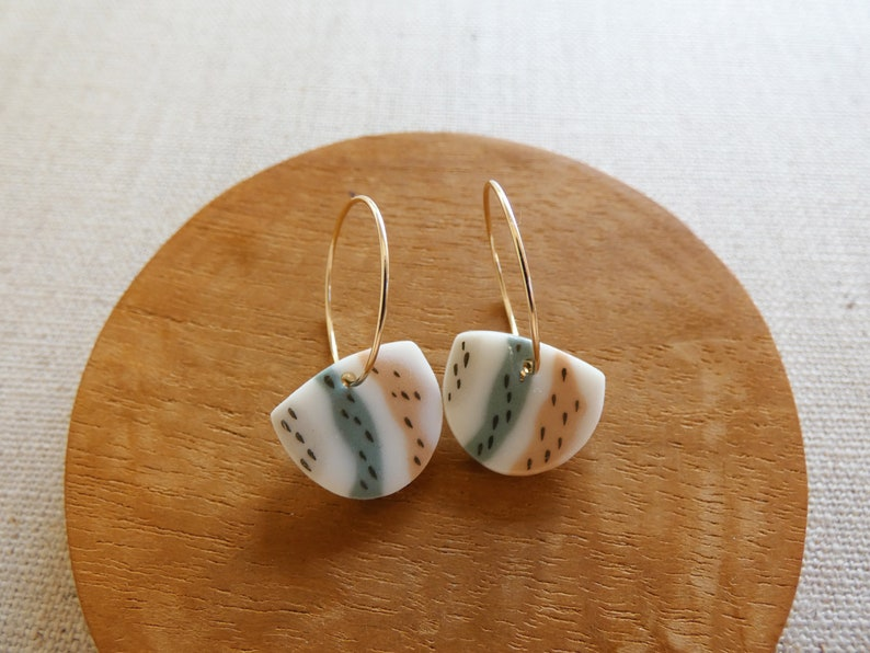Birch Hoop Earrings image 0