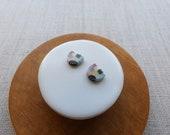 Starburst Rice Paddy Stud Earrings