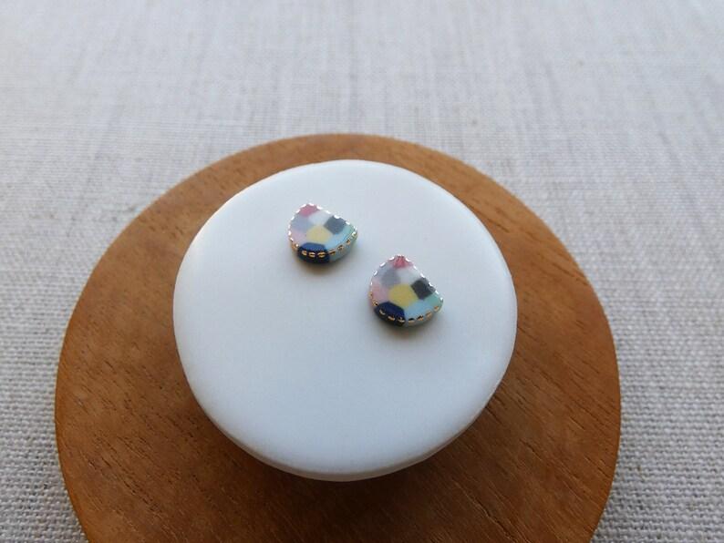 Starburst Rice Paddy Stud Earrings image 1