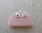 Ume Plum Flower Stud Earrings