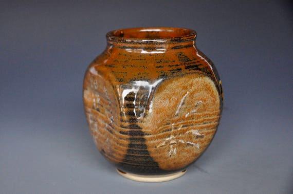 Small Pottery Vase Stoneware Flower Vase Handmade Ceramic Vase Etsy