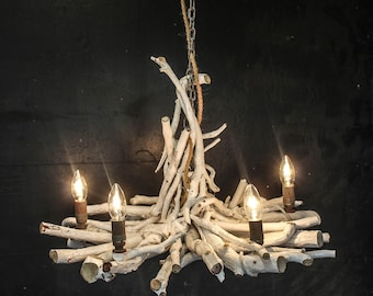 White Water Natural Driftwood Rustic Chandelier