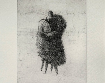 "Original Etching ""Embrace"""