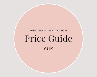 Wedding Price Guides