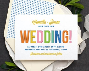 Rustic Recycled Ticket Wedding Invitation / 'Just the | Etsy