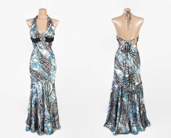 Vintage 90s Liquid Satin Mermaid Dress | 1990s doe