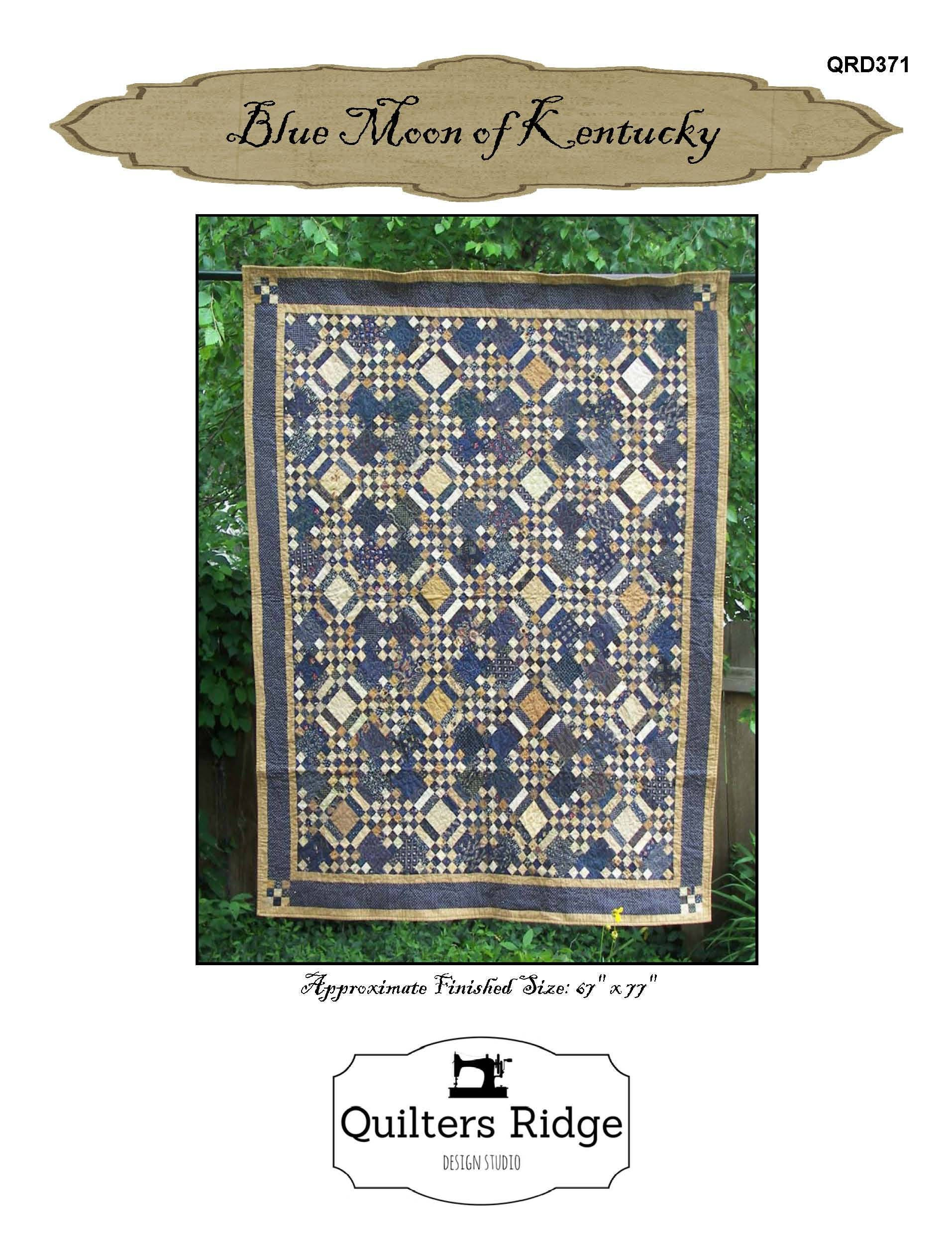 Blue Moon Of Kentucky Quilt Pattern Pdf Reproduction Etsy