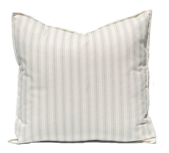 Ticking Pillow Cover - Farmhouse Decor - Decorative Pillow Covers - French Ticking Stripe Pillow Cover - Sofa Pillows - Farmhouse Pillow