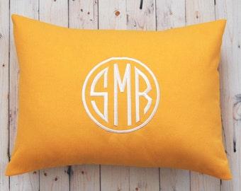 Monogram Pillow Cover, Monogram Cushion Cover, Monogram Decor, Monogram Throw Pillow Cover, Monogrammed Pillow, Solid Monogram Pillow