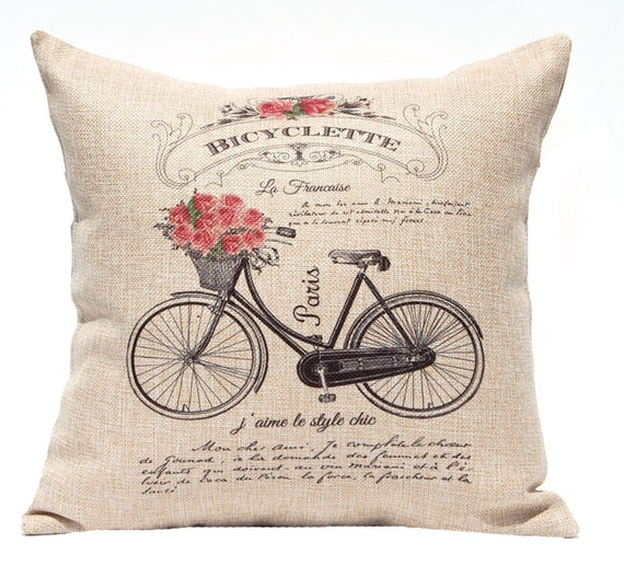 Decorative Pillow Cover French Country Style Vintage Etsy New French Country Decorative Pillows