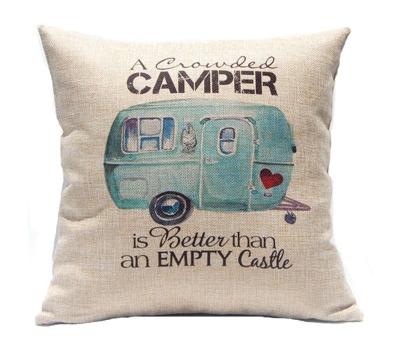 RV Decor  Crowded Camper Pillow Cover  Gift Under 20  RV